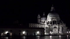 View on the basilica Santa Maria della Salute in Venice from St Mark's Square Stock Footage