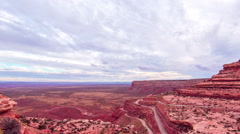Time Lapse - Cloudscape Moving Over Land of the Gods, Monument Valley, CA Stock Footage
