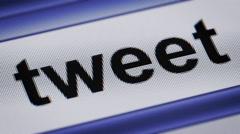 """tweet"" on a screen Stock Footage"