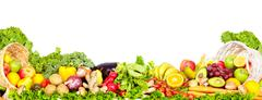 Vegetables and fruits. Stock Photos