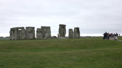 Prehistoric Stonehenge tourism Amesbury England 4K Stock Footage