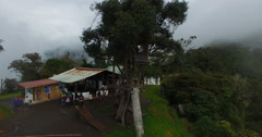 The view of the Tungurahua volcano from Tree House is one of a kind because from Stock Footage