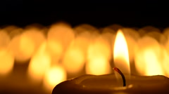 A sea of candles Stock Footage