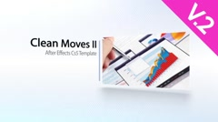 Clean Moves II (V.2) - After Effects Template Stock After Effects