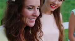 Stock Video Footage of Girls talk, joyous laughter, smiles.