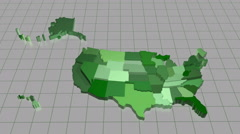 United States Map Animation Stock Footage