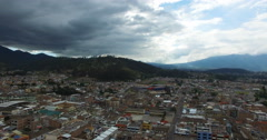 Aerial View of Otavalo, Ecuador Stock Footage