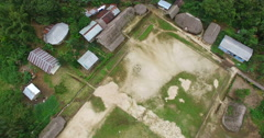 Over a Kichwa Community in Ecuador Stock Footage