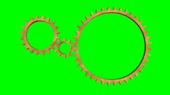 Isolate Rotating Gears loop - stock footage