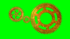 Isolate Rotating Gears loop Stock Footage