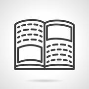 Tutorial book simple line vector icon Stock Illustration