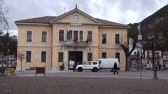 Pescasseroli small village of Abruzzo Stock Footage