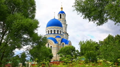 Dormition of the Mother of God in St.Tikhon Pustyn Stock Footage