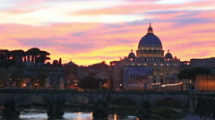 The Papal Basilica of St. Peters in Vatican, Italy Stock Footage