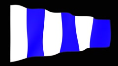 Special ICS maritiem signal flag:  Turn.   Waving flag  Stock Footage