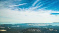 Time Lapse - Beautiful Clouds Moving Over Mountain Rage Stock Footage