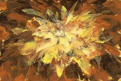 yellow brown abstract backround  handmade painting - stock illustration