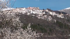 Scontrone small town in Abruzzo Stock Footage