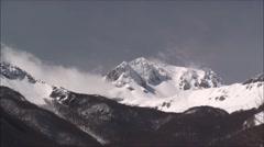 Vallefiorita mountain Meta, time lapse Stock Footage