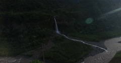 A Waterfall in Paradise (Manto de la Novia) Stock Footage