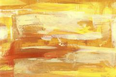 yellow abstract backround  handmade l painting - stock illustration
