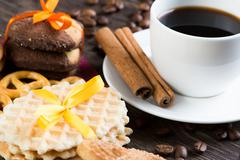 Sweets for coffee break - stock photo