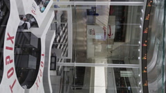 Vertical View of the Trading Floor of the Tokyo Stock Exchange - stock footage