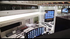 The electronic Trading Floor with Monitors of the Tokyo Stock Exchange - stock footage