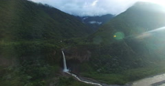 A Waterfall in Paradise (Manto de la Novia) and Lens Flare - stock footage