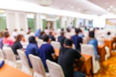 Blur people in seminar room Stock Photos