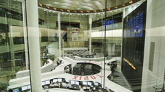 People on Computers at the Trading Floor of the Tokyo Stock Exchange Stock Footage