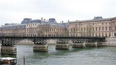 Paris - France: Pont  over Seine in Paris, french cityscape Stock Footage