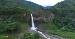 A Waterfall in Paradise (Manto de la Novia) - Camera Glides Toward - stock footage