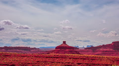 Time Lapse - Cloudscape Moving Over Butte at Monument Valley, Panning View Stock Footage