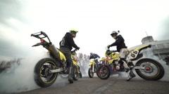 Motorcycle tyre burning Arkistovideo