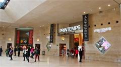 PARIS, FRANCE:  Shopping mall 'Carrousel du Louvre'. - stock footage