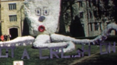 1961: Got a Crush on You octopus decoration college sorority campus. Stock Footage