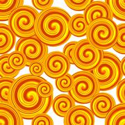 Golden Spiral seamless pattern. Curl pattern. Abstract background - stock illustration