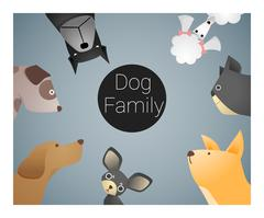 Animal background with dogs Stock Illustration