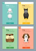 Animal banner with Dogs for web design - stock illustration
