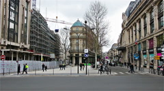 PARIS, FRANCE : Busy Parisian street and traffic Stock Footage