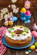 easter cake - stock photo