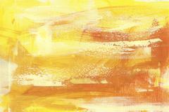 yellow sienna abstract backround  handmade painting - stock illustration