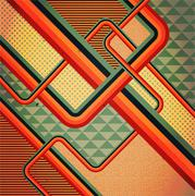 Retro stile abstract  background. Stock Illustration