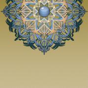 Retro background with ornament. Stock Illustration