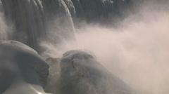 Niagara Falls Frozen In Winter Stock Footage