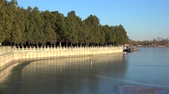 Kunming lake promenade in Summer Palace. Beijing, China. Stock Footage