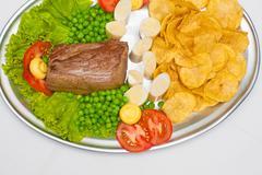Fillet mignon steak Stock Photos