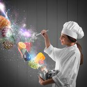 Magic in cooking - stock photo