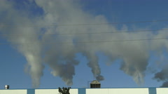 Smoke Stack, Air Pollution, Greenhouse Emissions Stock Footage